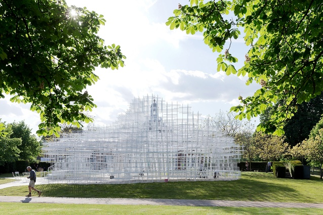 Serpentine Gallery Pavilion 2013 in London, designed by Sou Fujimoto.