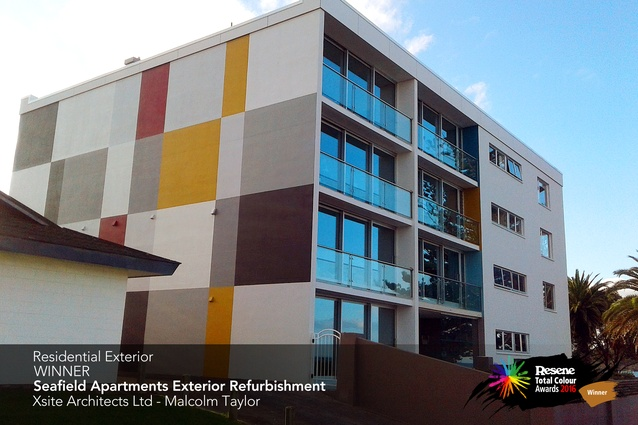 Residential Exterior Award winner: Seafield Apartments Exterior Refurbishment by Malcolm Taylor of XSite Architects.