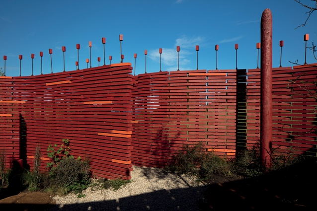 The team's design is based on the structure of a Māori palisade, a fence that assisted in the fortification of a key piece of land.