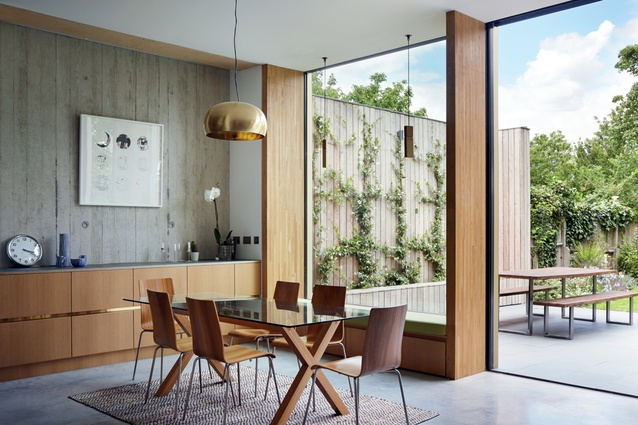 The generously proportioned dining area opens out onto the rear garden.