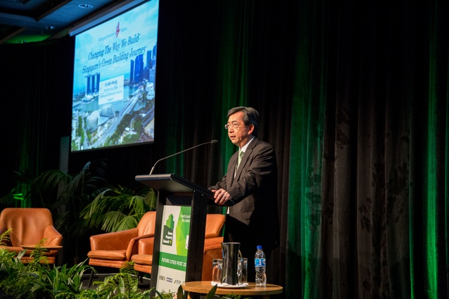Closing keynote speaker Dr. John Keung, chief executive of Building & Construction Authority, Singapore.