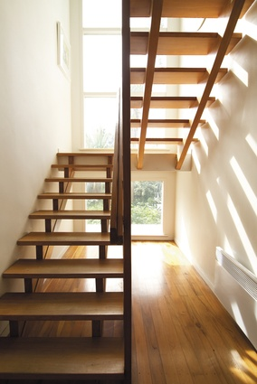 These beautiful stairs designed by Ernst Plishcke were one of the reasons for buying the house.