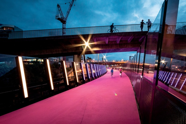 Winner of the Transport – Completed Buildings category: LightPath in Auckland, by Monk Mackenzie with GHD, Novare Design and LandLAB in association.