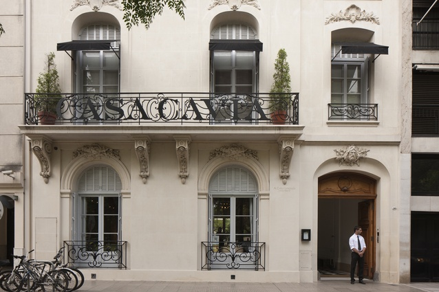 Façade includes the insertion of wrought-iron balustrades.