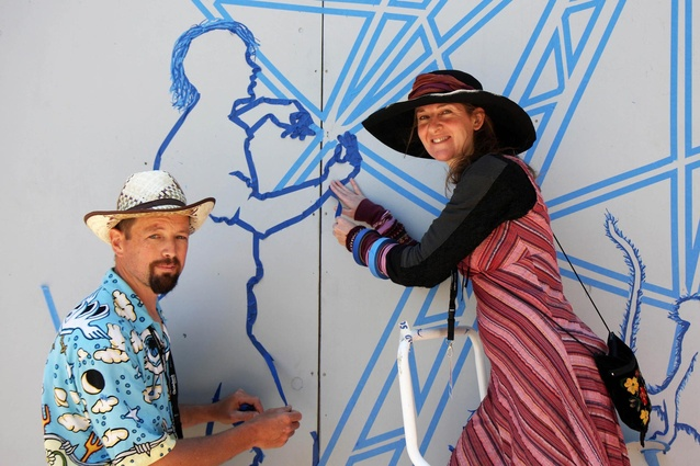 Erica Duthie and Struan Ashby, Tape Art NZ.