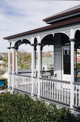 This Ponsonby villa sports a traditional front veranda.