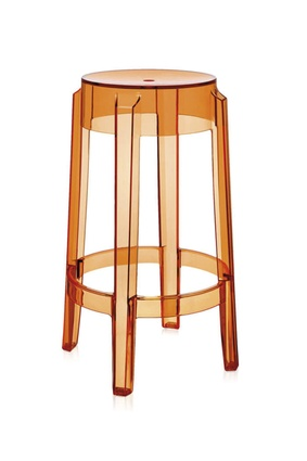 Kartell Charles Ghost tall stool by Philippe Starck | $521 from <a 