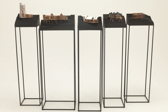 Architectural models, part of Turner's <em>The Fictional Generator</em> project.