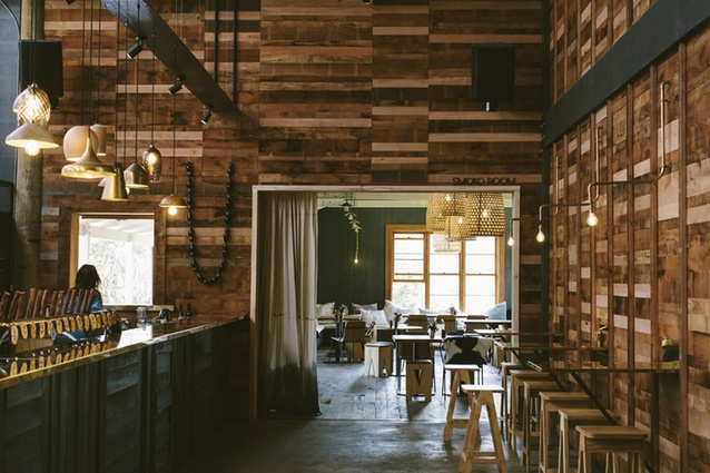Smoko Room by Rachel O'Malley and Mike Petre, shortlisted for Best Bar Design.