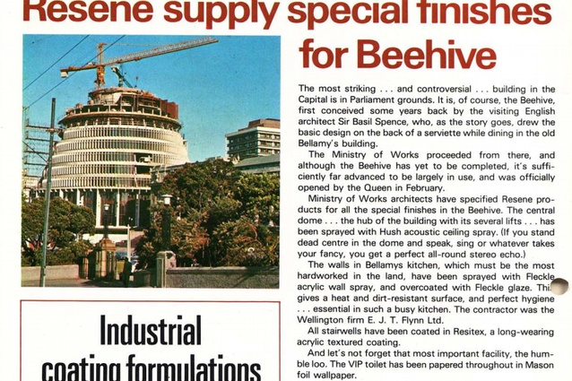 Sir Basil Spence's Beehive takes shape in 1977.