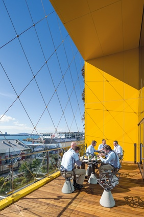 A sheltered balcony provides staff with a fantastic view across the harbour.