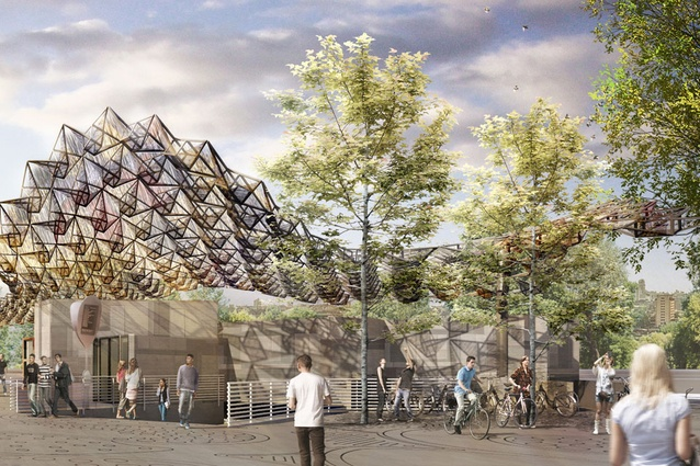 The Clichy-Montfermeil Metro station, France, currently in design development.