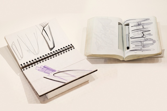 Zaha Hadid's notebooks.
