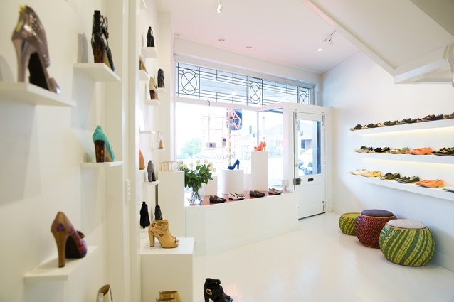 Inside the boutique.