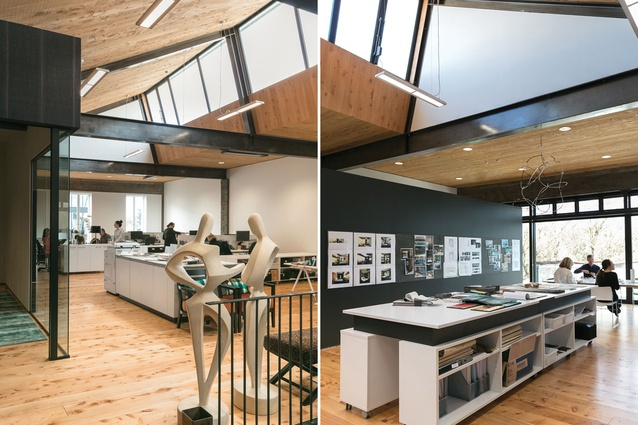 The space has the benefit of plenty of natural light through the high windows.