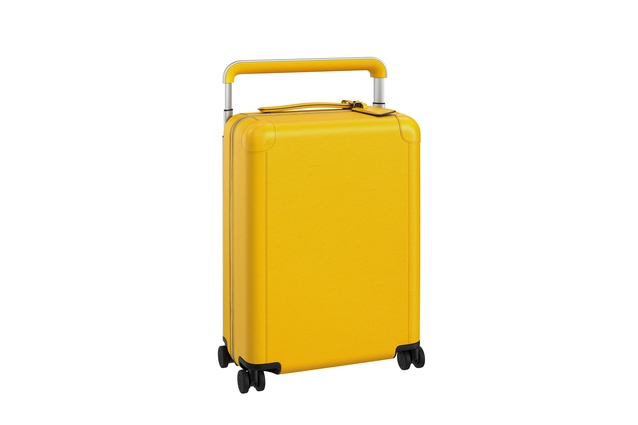 Louis Vuitton luggage by Mark Newson in Citron.