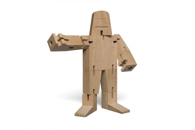"The <a href=""http://www.e15.com/en/mr-b.html"" target=""_blank""><u>Mr B bigfoot toy</u></a> by David Weeks Studio is crafted with playful features and foldable limbs."