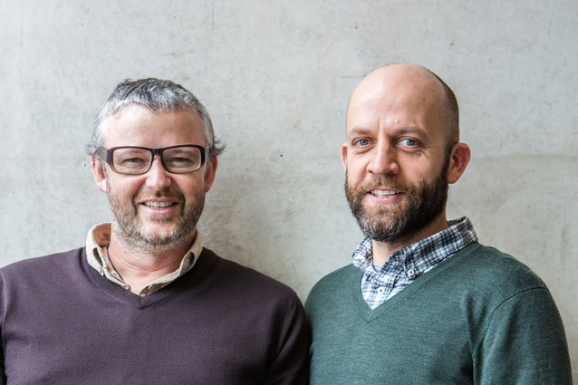 Tim Dorrington (left) and Sam Atcheson say the function must drive the form when it comes to creating workable kitchens and bathrooms.