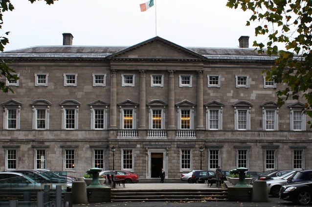Leinster House, Dublin, Ireland.