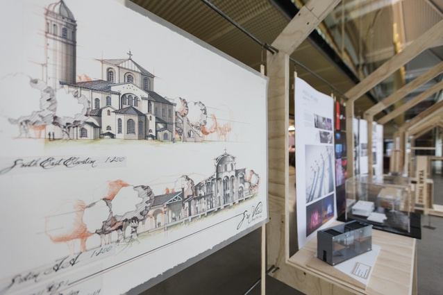 Unitec architecture student exhibition in conjunction with Women in Fabrication, installed at Warren & Mahoney.