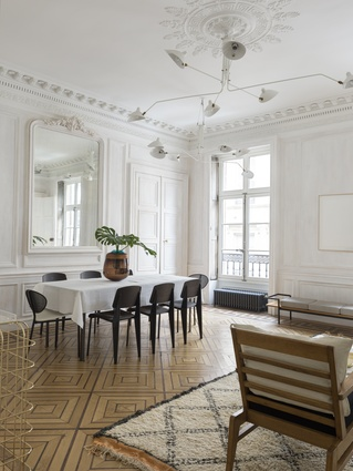 The floorboards in the sitting rooms have been replaced and renovated to show off their striking geometric patterns.