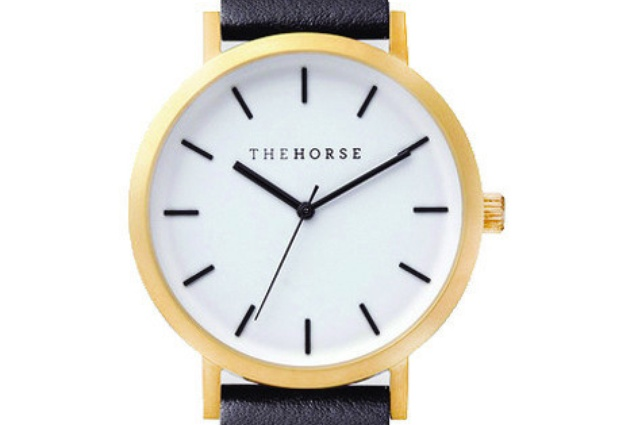 The Horse watch is water resistant to 3ATM (96 feet).