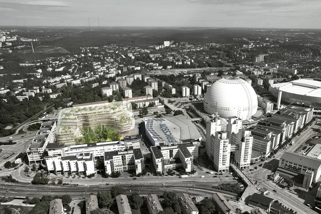 Future project: Stockholm Offices. A revitalisation of a large urban space with a natural park in the centre, surrounded by housing, shopping and cultural activities.