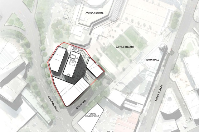 Site plan of the proposed Civic Quarter.