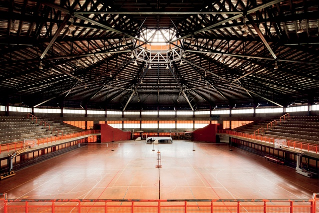 'Atele National Indoor Stadium, Lotoha'apai. Designed by Jaimi Associates, responsible for much commercial architecture of the period around the South Pacific. Completed in 1994.