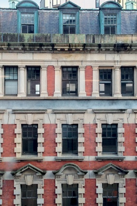 Some of the heritage details that building owner Maurice Clark believed were worth saving.