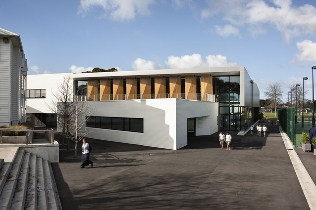 Education category winner: St Cuthbert's College Centennial Centre for Wellbeing, Auckland by Architectus and ArchitectureHDT in association.
