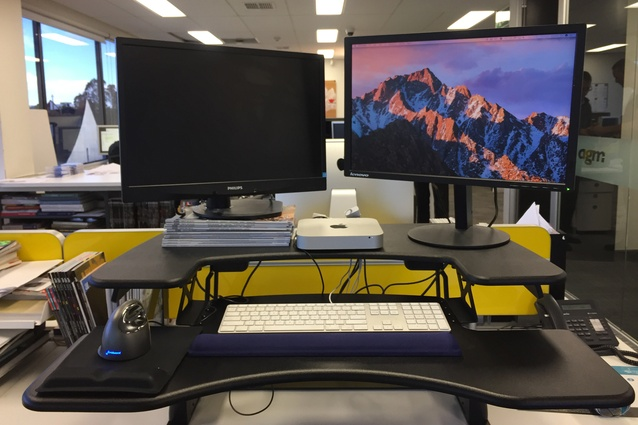The ProPlus 36 has plenty of space for two monitors.