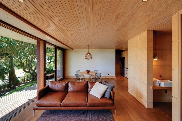 The existing house was reworked as a separate ground-level apartment.