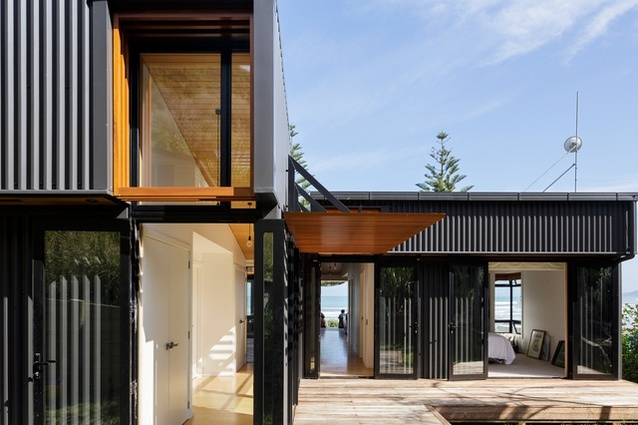 The offSET Shed House by Irving Smith Jack Architects near Gisborne.