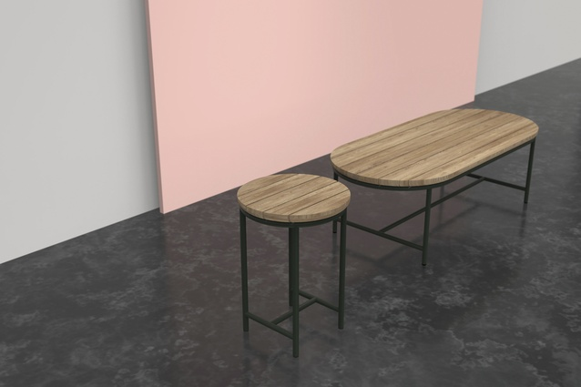 Contour coffee table and side table by Vincent Sheppard | $1,517 from <a 