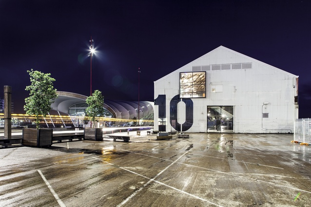 Sited on Auckland's Queens Wharf, the 100-year-old former industrial warehouse, Shed 10, is now Auckland's primary cruise ship terminal and an events space.