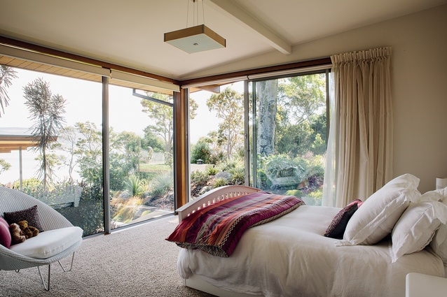 All of the bedrooms feature extensive glazing and ranch sliders to allow easy egress to the gardens.