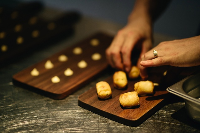 Canapés at The French Kitchen.
