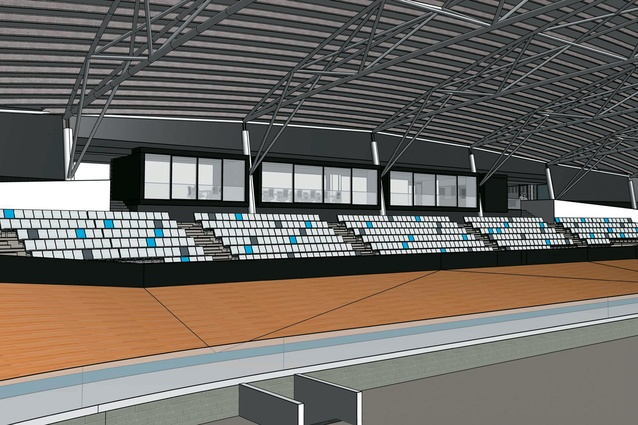 The velodrome has capacity to seat up to 4,000 spectators.