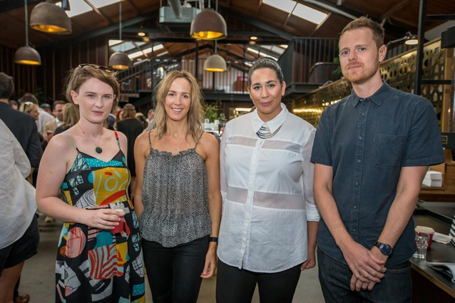 Madeleine Smith (Pop THAT), Michelle Halford (The Design Chaser) and Rachel Jury (White Studios) and Thomas Cannings (Urbis)