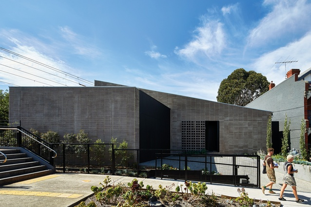 The street facade gives little away – reflecting the clients' desire for security and privacy.
