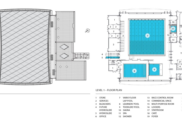 Roof and floor plan.