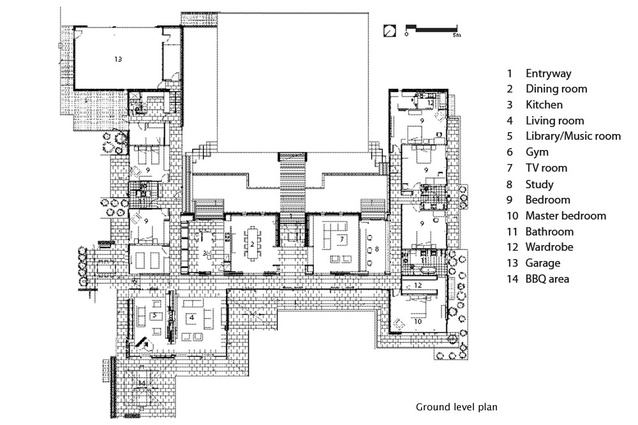 H Shaped House Plans clearwater house | architecture now