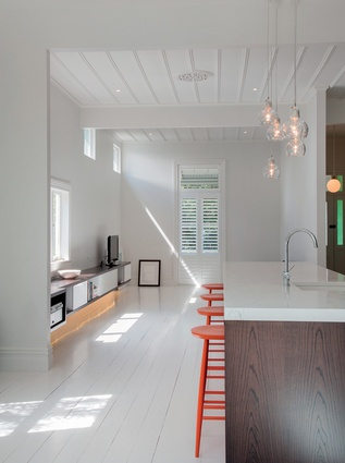 A refurbishment of a 100 year old timber villa by José Gutiérrez in Freemans Bay.