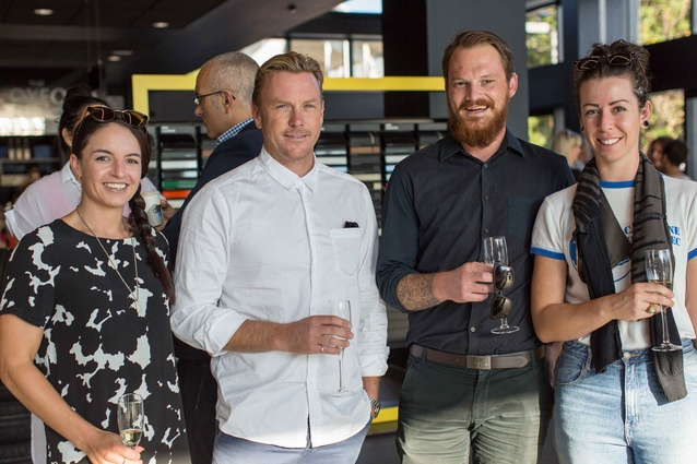Left to right: Becks Searle and Chris Stevens of ctrl Space. Jeremy Robertshaw and Mindy Wigglesworth of Autex.