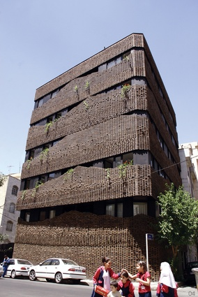 40 Knots House, Tehran, Iran. The Iranian historic traditions of Persian carpets and building bricks have been fused into a contemporary facade.
