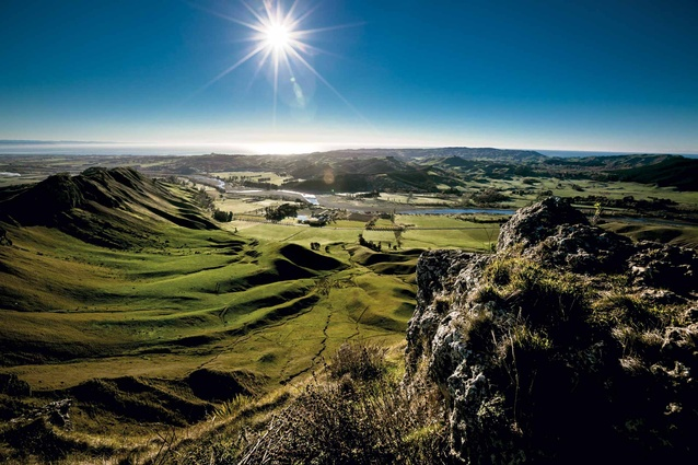Breathtaking views from Te Mata Peak.
