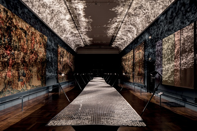 London Design Festival: 'Foil' – British designer Benjamin Hubert's atmospheric installation tapestries.