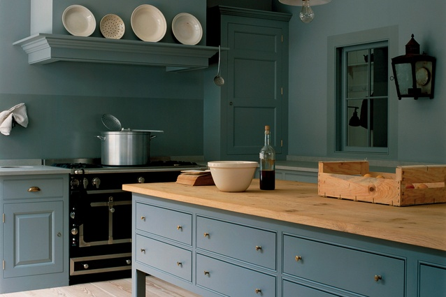 A classic kitchen designed by British designers Plain English.
