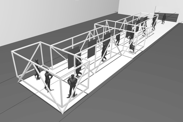 3D concept model of Taylored Studio's installation.